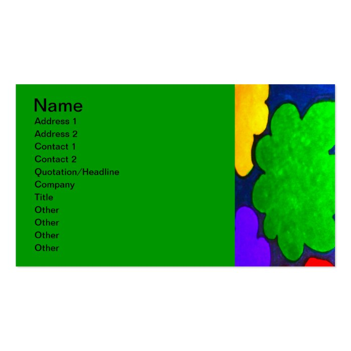 Colourful Popcorn Clouds Business Card