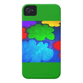 Colourful Popcorn Clouds iPhone 4 Case-Mate Cases