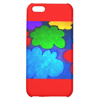 Colourful Popcorn Clouds iPhone 5C Cases