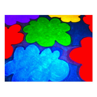 Colourful Popcorn Clouds Postcard