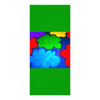 Colourful Popcorn Clouds Custom Rack Cards