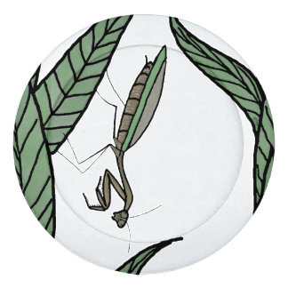 Colourful Praying Mantis On Leaves Pack Of Large Button Covers