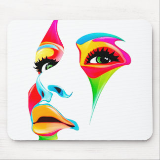 Colourful pretty face Mousepad