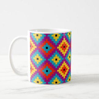 Colourful Primitive Mayan Bricks Pattern Coffee Mug