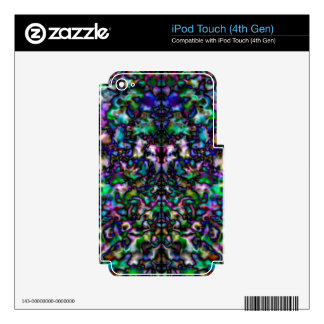 Colourful psychedelic kaleidoscope pattern iPod touch 4G skins