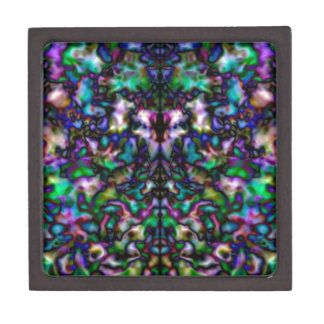 Colourful psychedelic kaleidoscope pattern keepsake box
