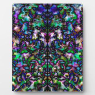 Colourful psychedelic kaleidoscope pattern plaque