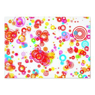 Colourful Puddle Raindrops digital art random Card