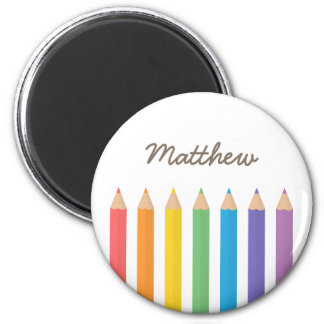 Colourful Rainbow Colouring Pencils School Kids Magnet