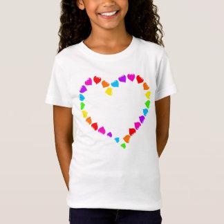 Colourful Rainbow Heart T-Shirt