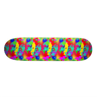 Colourful Random Trippy Pattern Skateboard