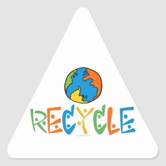 Colourful Recycling Triangle Sticker