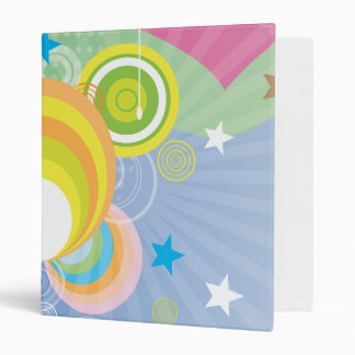 Colourful Retro Binder