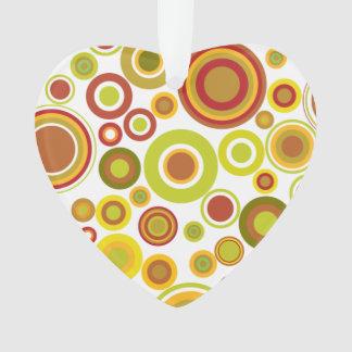 Colourful retro bubbles ornament