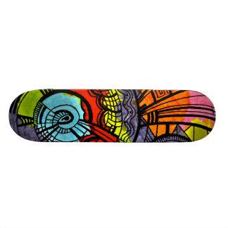 colourful retro skateboard