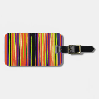 Colourful ripped paper pattern bag tag