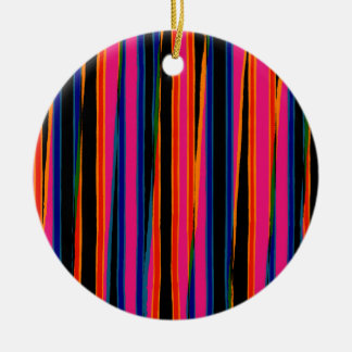 Colourful ripped paper pattern ceramic ornament