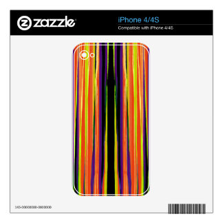 Colourful ripped paper pattern decal for iPhone 4