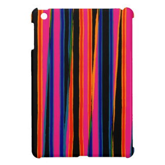 Colourful ripped paper pattern iPad mini cases