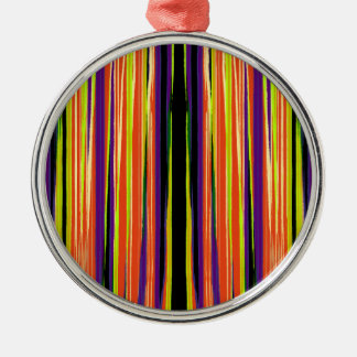 Colourful ripped paper pattern metal ornament