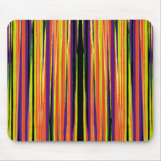 Colourful ripped paper pattern mouse pad