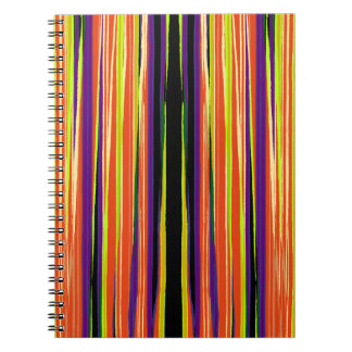 Colourful ripped paper pattern notebook