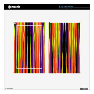 Colourful ripped paper pattern skin for kindle fire