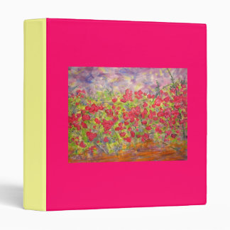 colourful roses blooming binder