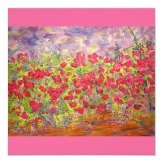 colourful roses blooming custom invitations