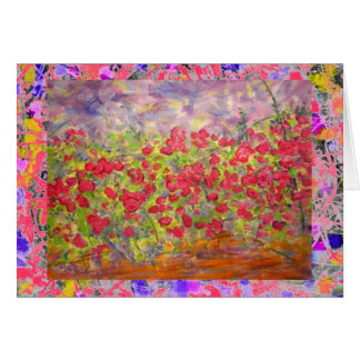 colourful roses blooming drip card