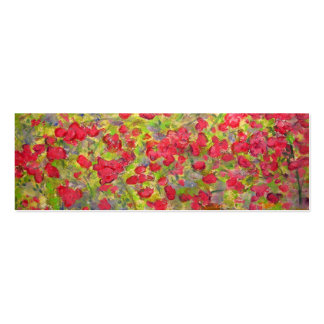colourful roses blooming mini business card
