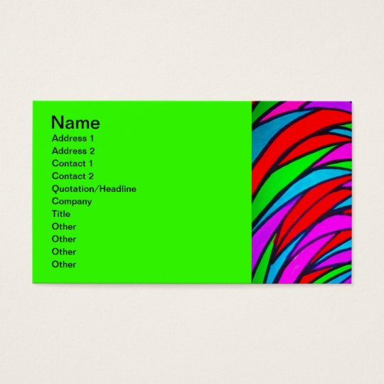 Colourful Scales - alt Business Card