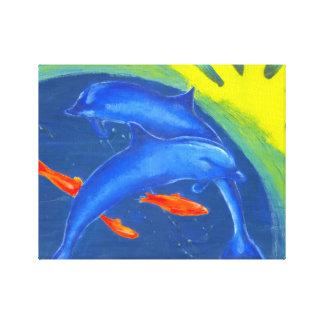 Colourful Sea life Wall Print on Canvas