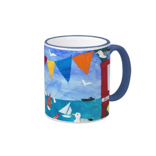 Colourful 'Seaside' Coffee Mug