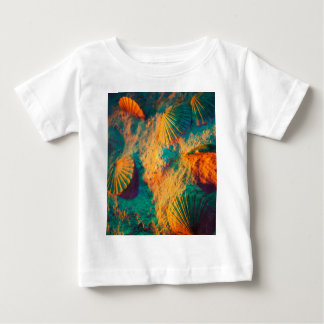 Colourful Shells and Sand on the Beech Baby T-Shirt