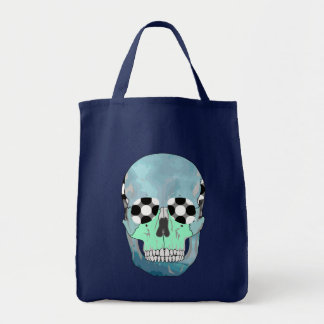 COLOURFUL SKULL Grocery Tote Grocery Tote Bag