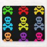 Colourful Skulls Mouse Pad