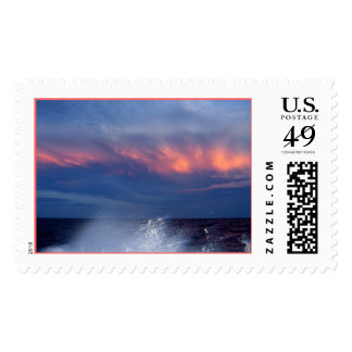 Colourful Sky and Splash Stamp