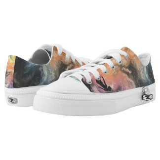 colourful sky dive Low-Top sneakers