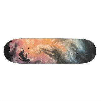 colourful sky dive skateboard
