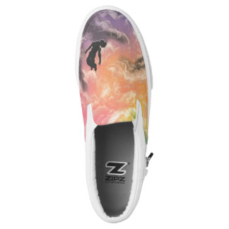colourful sky dive Slip-On sneakers