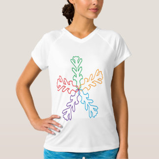 Colourful Snowflake Womens Active Tee