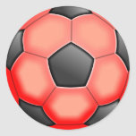 Colourful Soccer Balls Classic Round Sticker