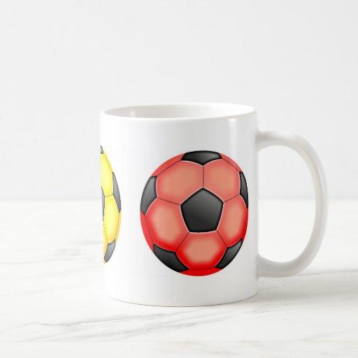 Colourful Soccer Balls Coffee Mug