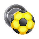 Colourful Soccer Balls Pinback Buttons
