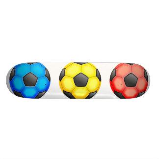 Colourful Soccer Balls Skateboard Deck