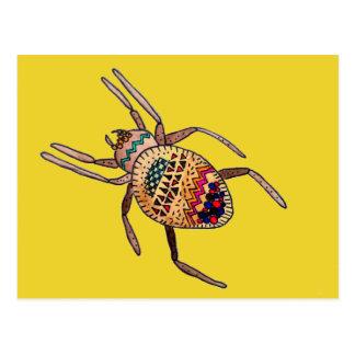 Colourful Spider Zentangle arachnid art Post Cards