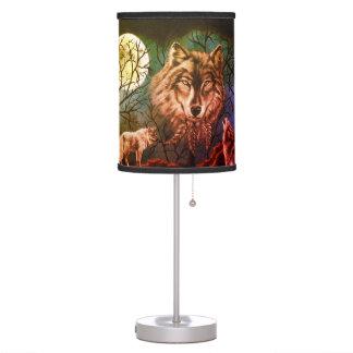 Colourful Spirit Wolf Lamp