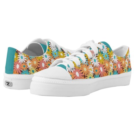 Colourful spring daisies Low-Top sneakers