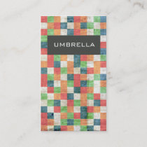 Colourful square pattern stylish business card